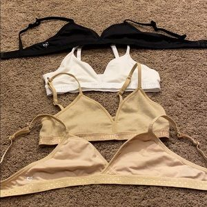 Justice girls bras set of 4. All size 34